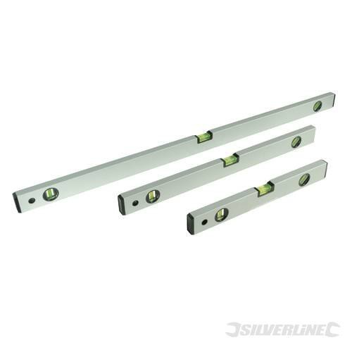 3 Piece Builders Levet Set - Level 600 Silverline 400 1000mm Spirit 3pce 119688 -  level set builders 600 silverline 400 1000mm spirit 3pce 119688