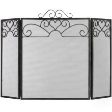 Fire Screen Heart Motif