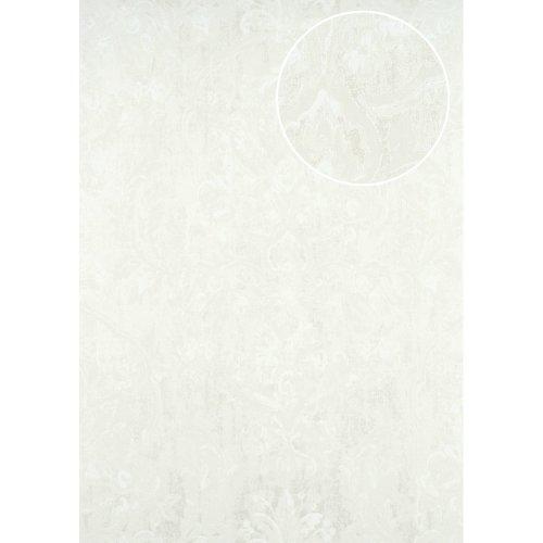 ATLAS CLA-602-1 Baroque wallpaper shimmering white oyster white 5.33 sqm