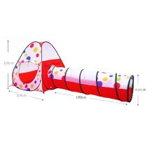 Kids Play Tents Indoor/Outdoor Play Tent with Tunnel (Under 3 Years Old, Red)