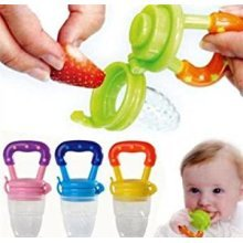 Baby Dummy Pacifier Fresh Food/Fruit Feeder Feeding Nipple Weaning Teething Nipple Teat Pacifier Teether Soother