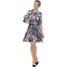 Uk 12 14 Multi Colour Zombie Suit   Dress Zombie Fancy Suit Halloween  Costume Ladies Stand Out Womens Smiffys Outfit Medium Uk 1214
