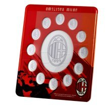 A.c. Milan Picture Frame - Official Ac Football Club Vertical Photo Holder -  official ac milan football club vertical photo frame holder decoration