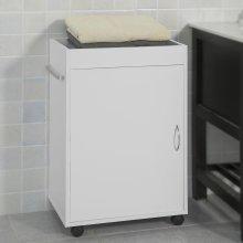 SoBuy® FKW55-W, Bathroom Storage Cabinet on Wheels Serving Trolley