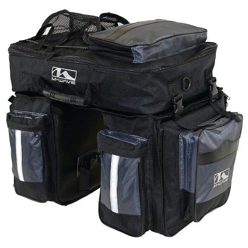 M Wave Cicli Bonin Unisex Adult Tourism Touring Set Amsterdam Bags - Black, One Size