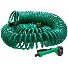 100ft 30m Meter Retractable Coil Garden Water Hose Pipe with Spay Gun Nozz