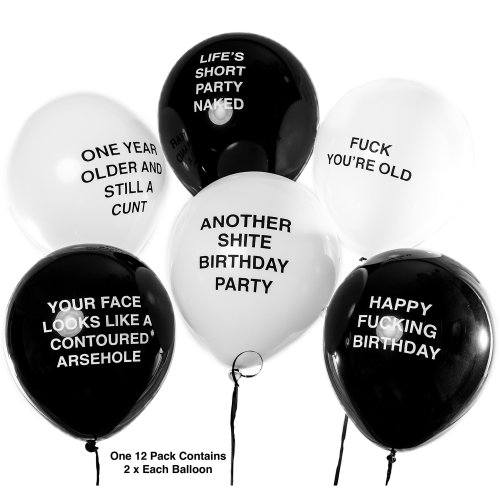 Brutal Birthday Balloons - Funny/Rude/Abusive Balloons!