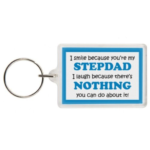 Funny Stepdad Gift Keyring - Excellent stocking filler, secret santa gift, joke keyring, keychain, Stepdad keyring Stepdad present gift for Stepdad