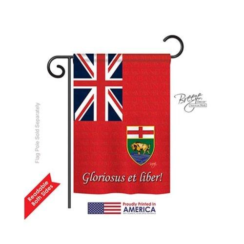Breeze Decor 58186 Canada Provinces Manitoba 2-Sided Impression Garden Flag - 13 x 18.5 in.