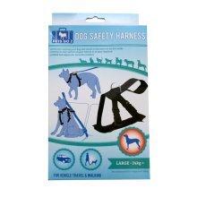 Large Black Padded Dog Harness - Travel Adjustable Safety New Lead Car Leash Lms -  dog harness padded travel adjustable safety new large lead car