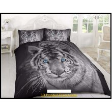 3D duvet cover set tiger 3D Effect bedding sets and sheet, Double