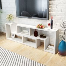 vidaXL TV Cabinet Double L-Shaped White