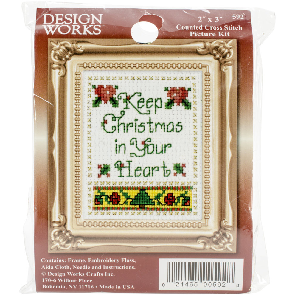 """Janlynn Counted Cross Stitch Kit 15.25/""""x14.25/""""-christmas Traditions 14 Count"""