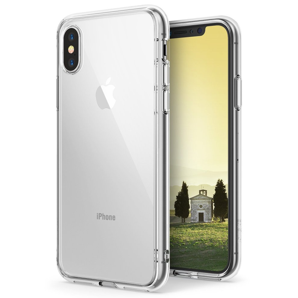 low priced 18546 f29d5 Ringke iPhone X Case, [FUSION] Ergonomic Crystal Transparent [Drop Defense]  PC Back TPU Bumper Drop Protection Shock Absorption Technology Cover...
