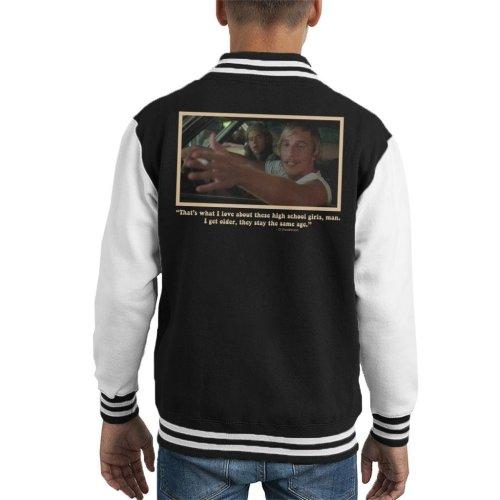 High School Girls David Wooderson Dazed And Confused Kid's Varsity Jacket