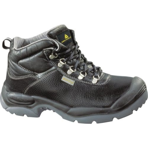 Delta Plus SAULT Split Leather Safety Work Boots Black (Sizes 7-12)