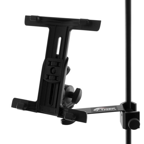 Tiger Tablet iPad Mount for Microphone/Music Stand with Adjustable Clamp
