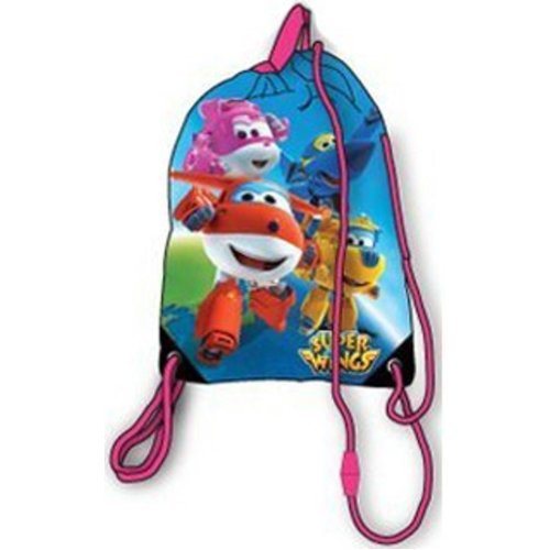 SUPER WINGS 41cm School Drawstring Trainer Bag