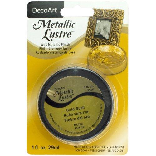Metallic Lustre Wax Finish 1oz-Gold Rush