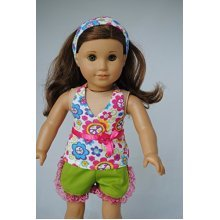 Unique Doll Clothing Peace and Floral Short Set Baby-Doll-Accessories