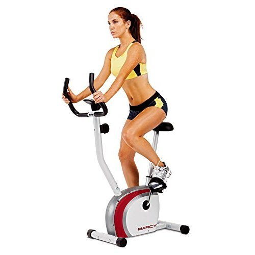 Marcy Upright Exercise Bike With Pulse Adjustable Seat And Magnetic  Resistance Ns 908U