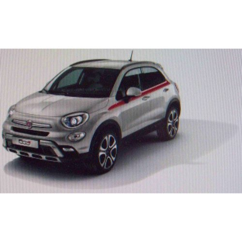 Fiat 500x Upper Side Red Decal Stripe Kit 50927502