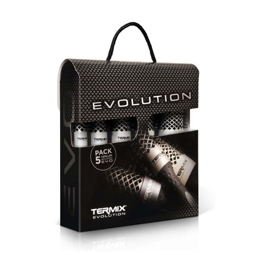 Termix Evolution Basic - Pack of 5 Thermal Brushes, Special for Normal Hair