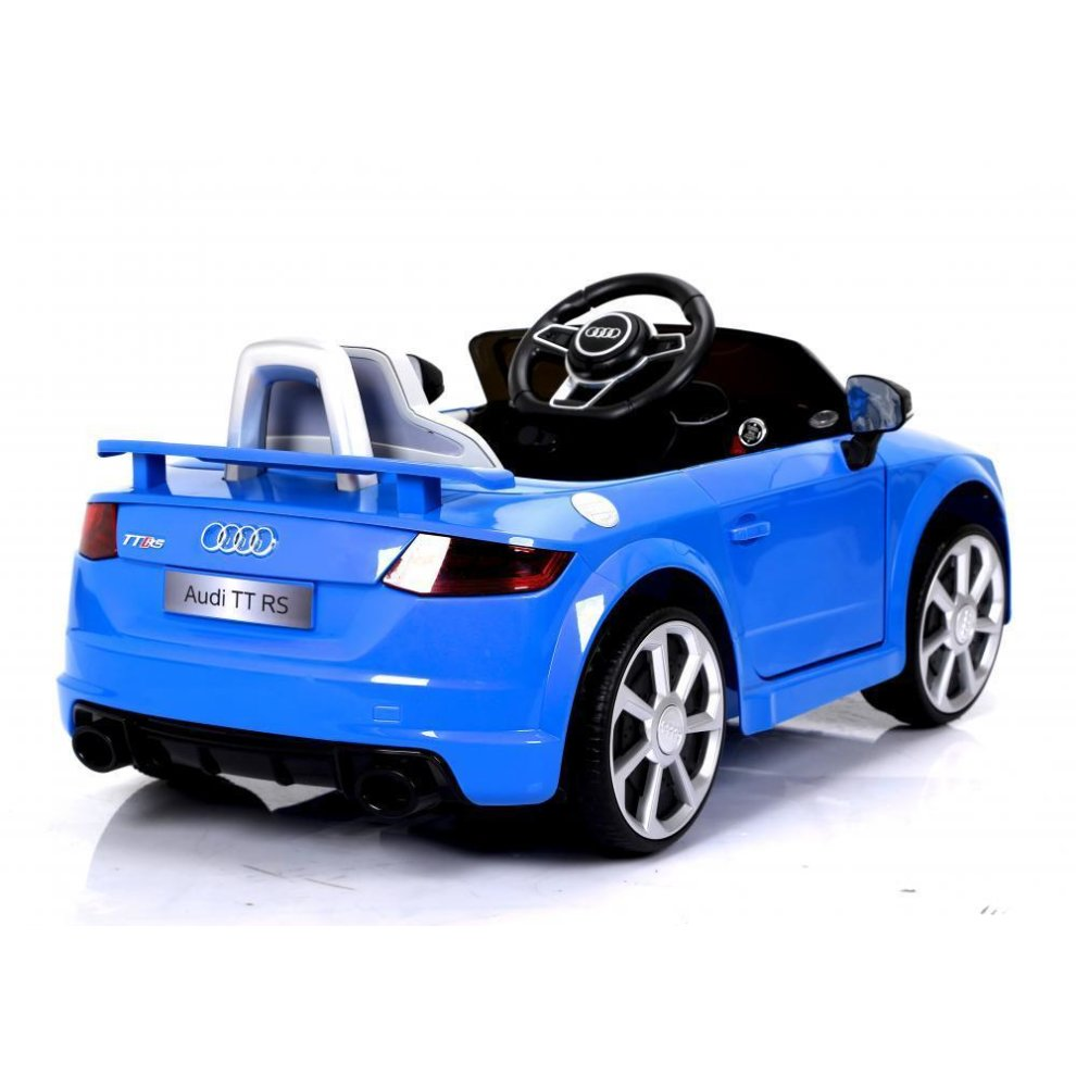 Blue Audi TT RS 6V Electric Ride-On Car