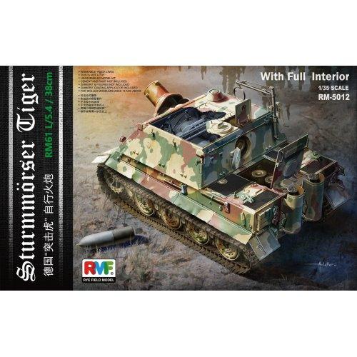 1:35 Sturmmörser Tiger RM61 L/5,4 / 38 cm w/Full Interior Military Model Kit