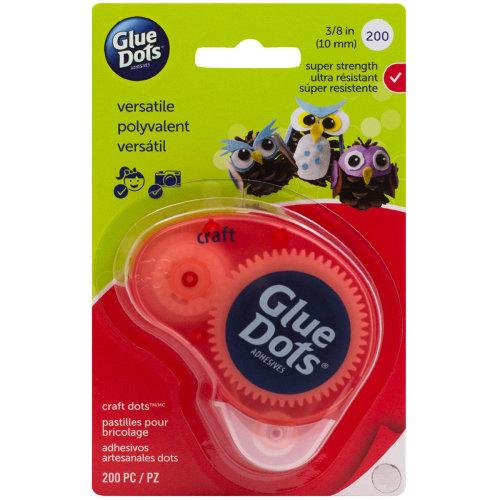 """Glue Dots Clear Dot Disposable Dispenser-Craft .375"""" 200/Pkg"""