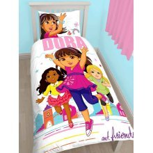 Dora And Friends Citygirl Single Duvet Cover Set Polycotton