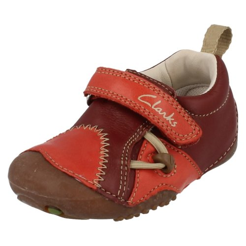Boys Clarks Cruiser Shoes Fanfare - Red Leather - UK Size 3G - EU Size 18.5 - US Size 3.5W