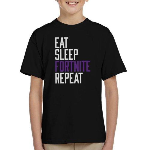 Eat Sleep Fortnite Repeat Kid's T-Shirt