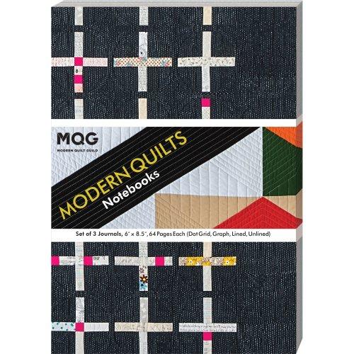 Modern Quilts Notebook-Set Of 3 Journals