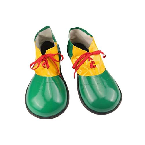 Artificial Leather Clown Shoes Pretend Games Shoes For Adults Party Clown Costume Supplies, Green