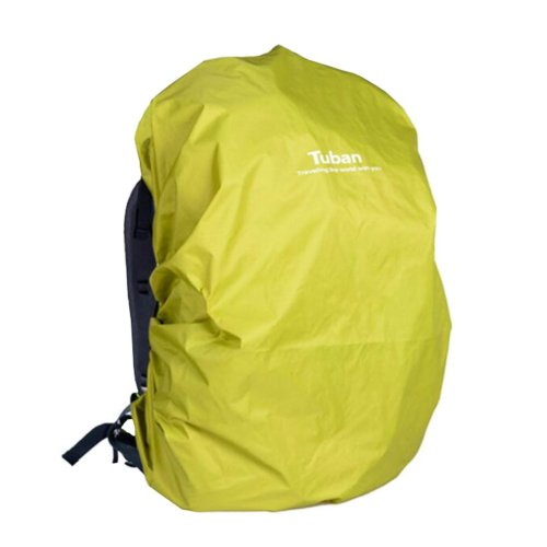 Outdoor Riding Backpack Rain Cover Waterproof Backpack Cover-40 L Yellow Green