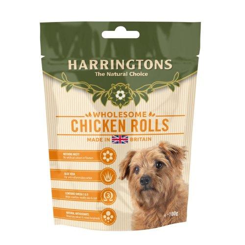 Harringtons Chicken Roll Treats 100g (Pack of 8)