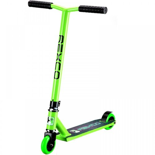 REXCO FIXED BAR PRO STUNT SCOOTER STREET JUMP PUSH TRICK KIDS CHILDRENS ADULTS[Green]