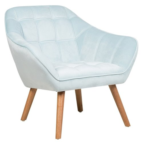 Velvet Armchair Light Blue KARIS