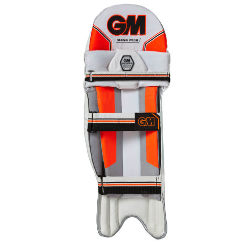 Gunn & Moore 2018 Mana Plus Cricket Batting Pads Leg Guards White/Red