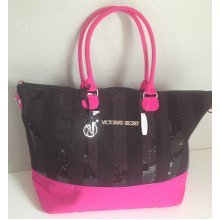 Victoria's Secret Black Friday Limited Edition Weekender Bag Black/Pink
