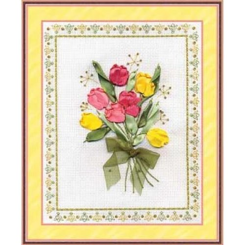 Ribbon Embroidery Kit by Panna  C 0620 Tulips