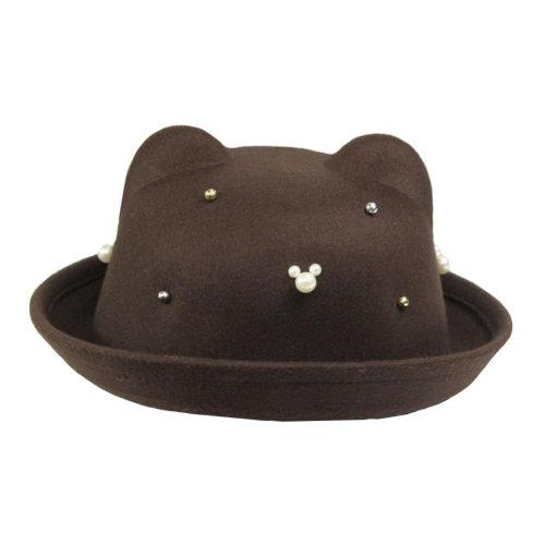 Bowler Hat Fashionable Style Wide Brim Hat for Girl/Comfortable/Winter Elegant Hat Floppy Hat Autumn