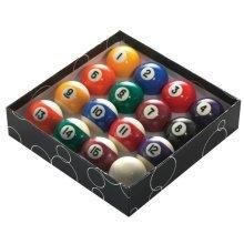 "2"" Striped 16 Piece Pool Ball Set - Powerglide Balls -  powerglide pool balls"