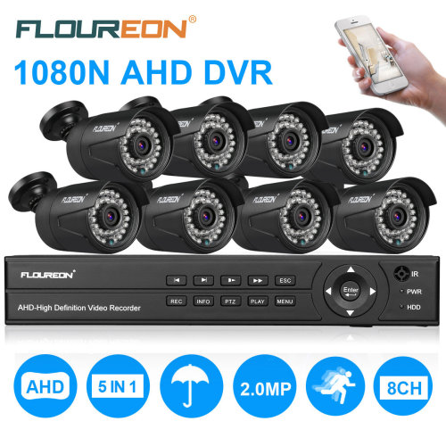 8CH 5IN1 CCTV 1080N DVR Home Security TVI System Outdoor Video Camera