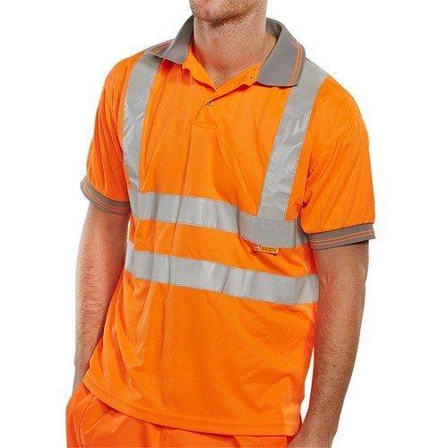 Click BPKSENOR5XL Hi Vis Orange Polo Shirt 5XL