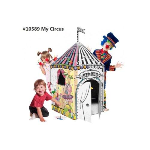 Cardboard Playhouse - Colour and Play with Cardboard Playhouse My Circus