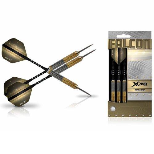 XQmax Darts Dart Set Falcon 3 pcs 25g Brass Steel Play Throwing Game QD1103180