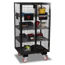 Armorgard FittingStor Mobile Pipe Fittings Mesh Storage Cage 1000x750x1880mm