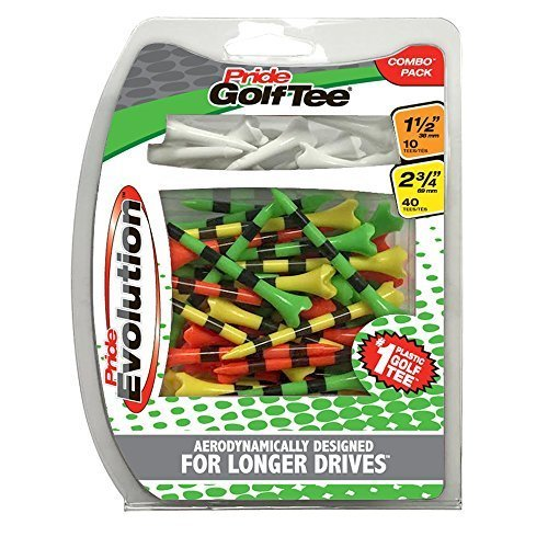 Pride Golf Tee Evolution Combo Pack 50 Count 40 2 3 4 10 1 1 2